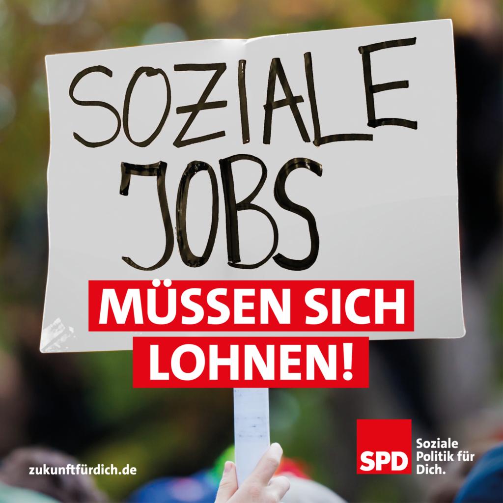 Soziale Jobs müssen sich lohnen!